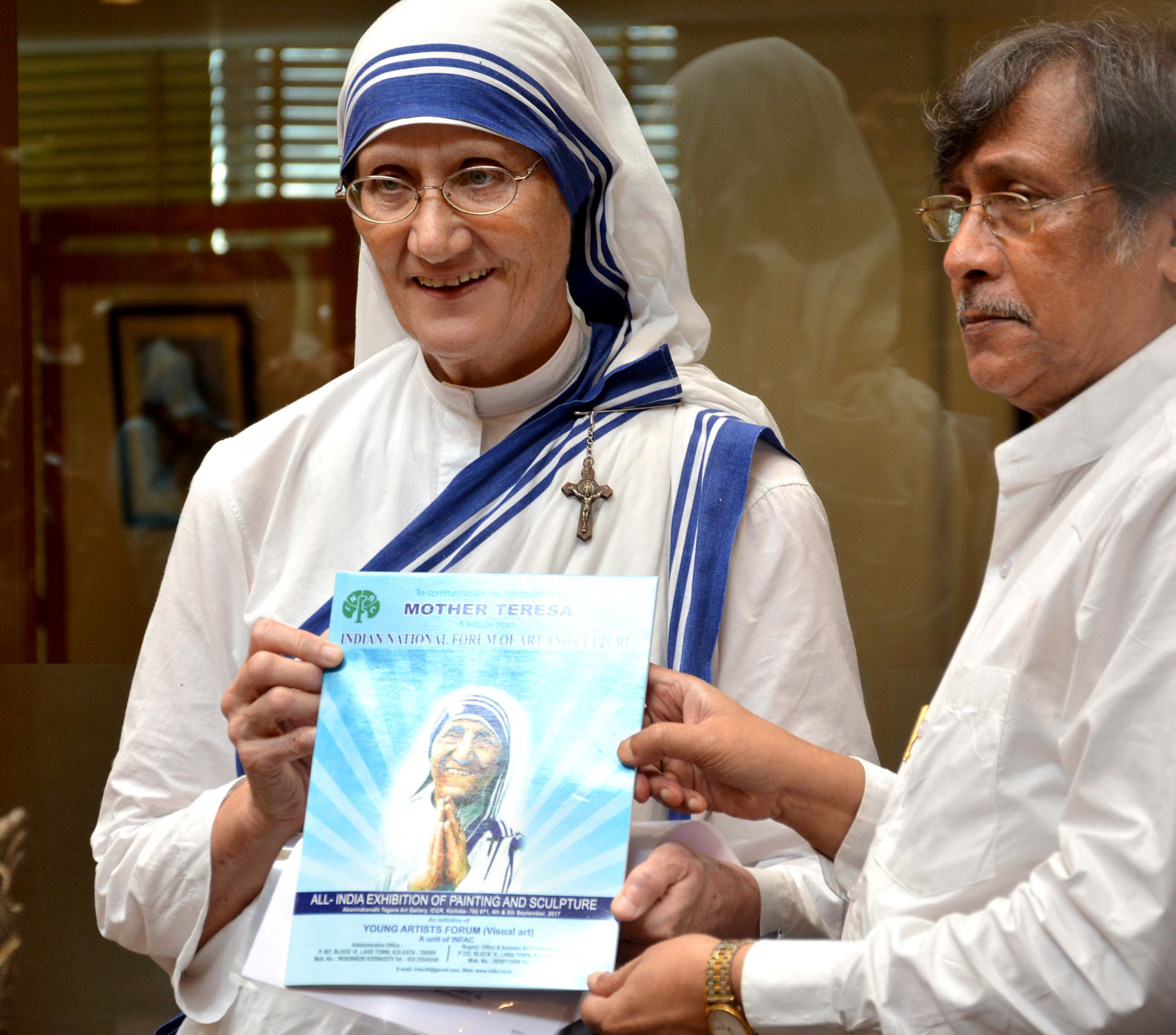 With Sister Nirmala of Missioneries of Charity